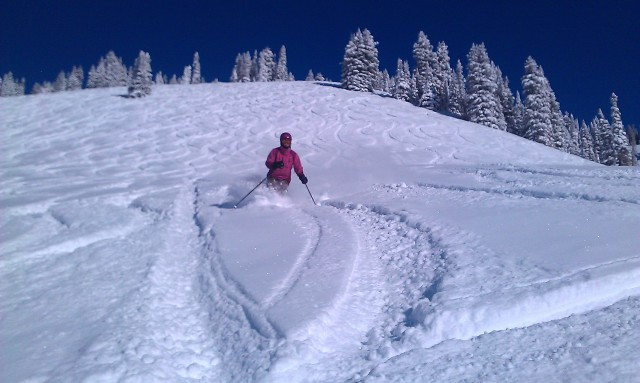 Fresh Powder in the Back bowls of Vail- Living the Black diamond Life